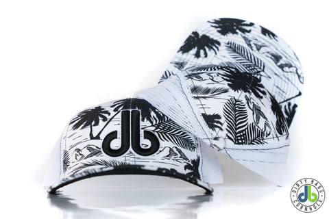 db hat - Black and White Tropical