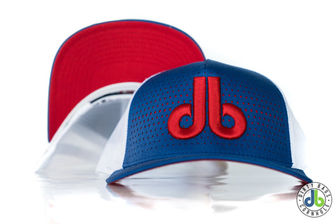 db hat - Royal Blue and Red Fade