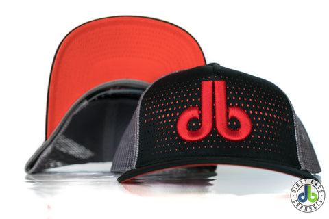 db Hat - Red db / Orange Dots