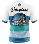 "Dirty Bags Cornhole Jersey - ""Bags in Paradise"" (Blue)"