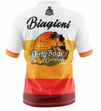 "Dirty Bags Cornhole Jersey - ""Bags in Paradise"" (Orange)"