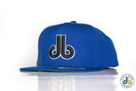 db hat - Royal Blue Black db