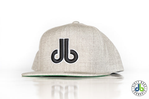 db hat - Heather Gray and Black