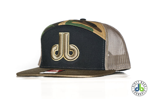 db Hat – 7 Panel Tan Camo