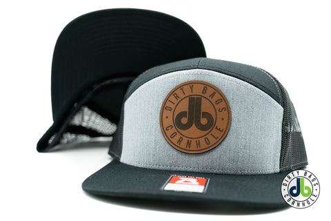 db Leather Patch Hat  - Black and Gray