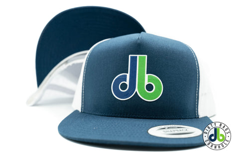 db Beveled Patch Hat - Navy White Snapback