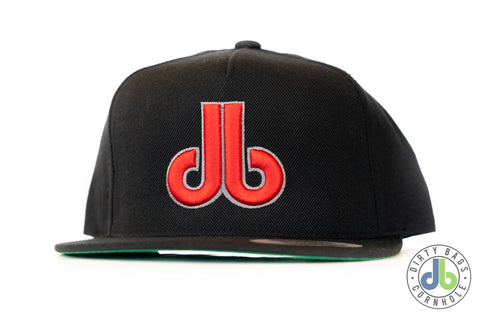 db hat - Red and Gray db