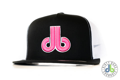 db hat - Pink and White db