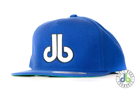 db hat - Royal Blue with White db outlined in Black