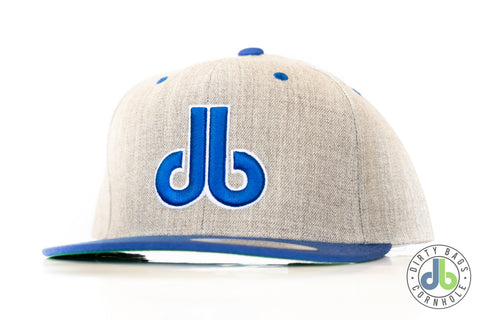 db hat - Gray and Royal Blue Two Tone