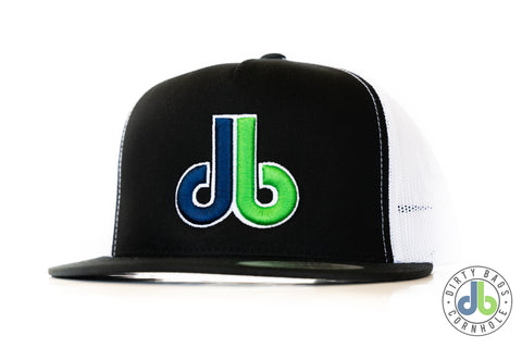 db hat - Black and White Mesh color db