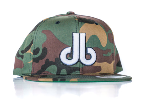 db Hat – Camo and White db