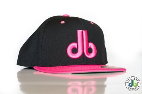 db hat - 2 Tone Pink and Black - Cornhole hat - cornhole bags Dirty Bags Cornhole - dirty bags cornhole