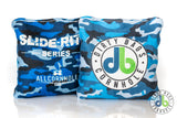 Slide Rite Cornhole Bags in Blue Camo