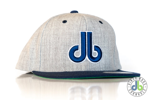 db hat - Gray and Blue Two Tone