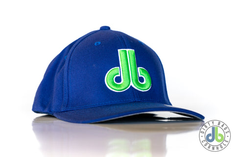 db hat - Blue Green and White