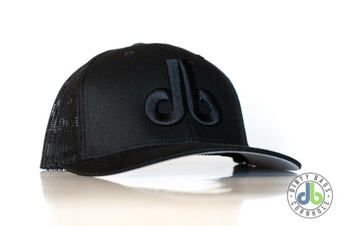 db hat - blacked out