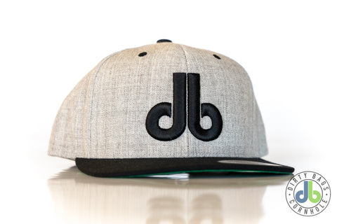 db hat - Heather Gray and Black Two Tone