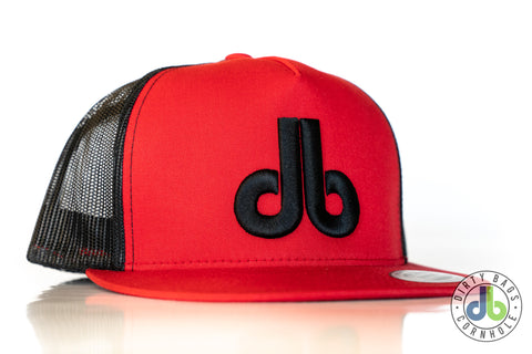 db hat - Red and Black Snap