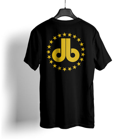 Cornhole T Shirt - Gold db and Stars