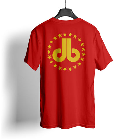 Cornhole T Shirt - Red with Gold Stars