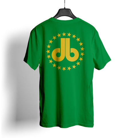 Cornhole T Shirt - Green with Gold Stars