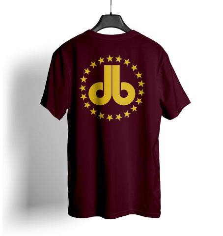 Cornhole T Shirt - Maroon with Gold Stars