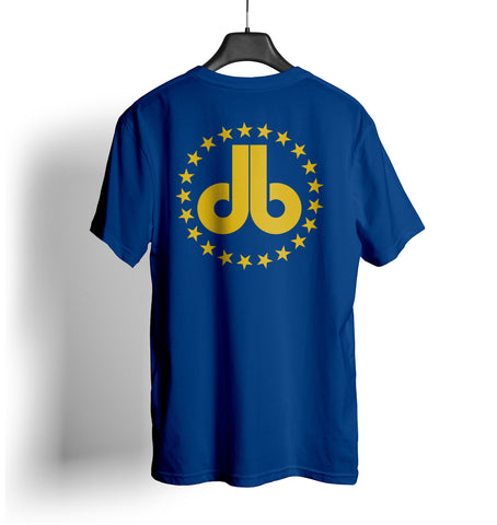 Cornhole T Shirt - Royal Blue with Gold Stars