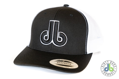 db Hat - Black and White