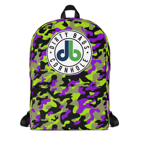 DBC Camo Backpack - Green and Purple