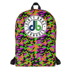 DBC Camo Backpack - Green Purple and Orange