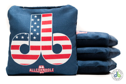Slide Rite Cornhole Bags - db USA Edition (Half Set)