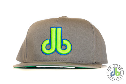 db hat - Gray and Neon Green