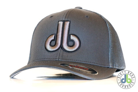db Hat – Gray with Gray db Mesh Flexfit