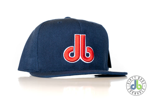 "Dirty Bags Cornhole Hat - Blue and Red db ""The Sox"""