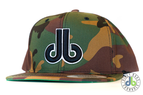 db Hat – Camo and Black and White db