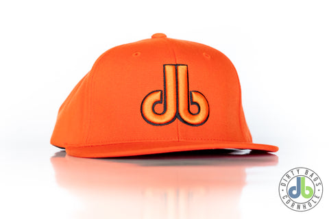 db Hat - Orange and Black