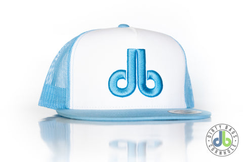 db Hat - Baby Blue and White Snapback
