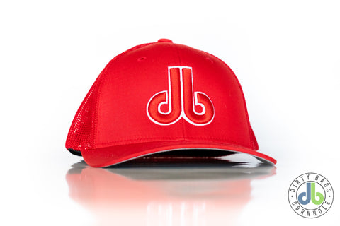db Hat - Red and White flexfit