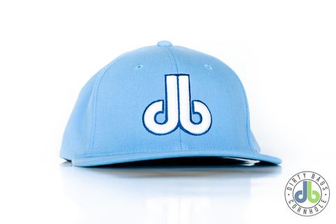 db Hat - Baby Blue with White and Navy Blue