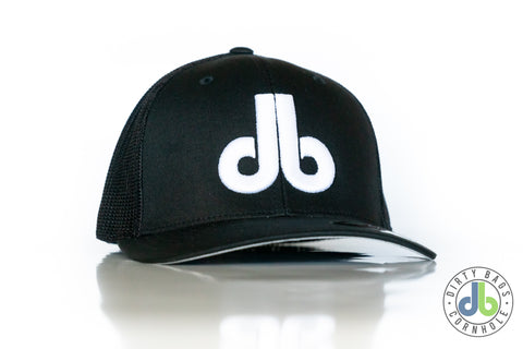 db Hat - Black and White Mesh Flexfit