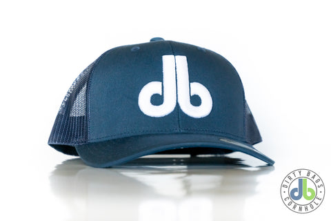 db Hat - Navy Blue Snap and White db