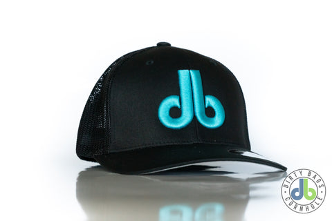 db Hat - Black and Turquoise