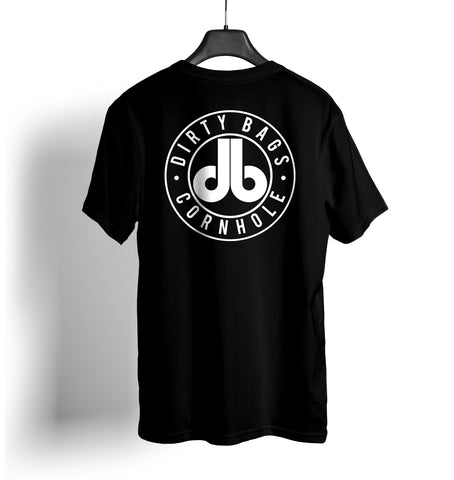 cornhole shirt dbc black and white