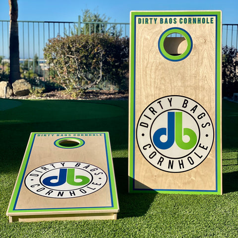 Dirty Bags Cornhole Boards - White DB Badge