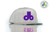 "db Hat – ""Gray and Purple"" - Cornhole hat - cornhole bags Dirty Bags Cornhole - dirty bags cornhole"