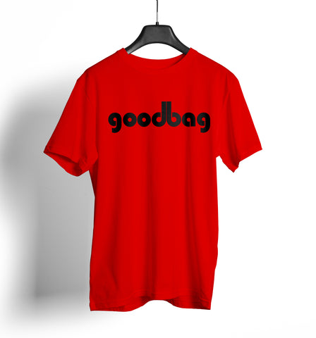 Dirty Bags Cornhole T Shirt - goodbag red and black