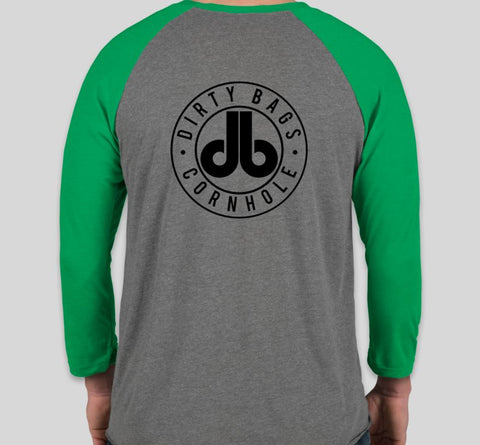 Three Quarter Sleeve DB Shirt - Gray and Green