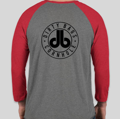 Three Quarter Sleeve DB Shirt - Gray and Red
