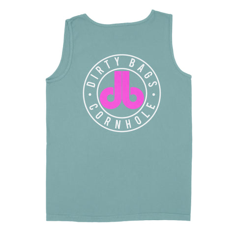 Dirty Bags Mens Tank Top - Green and Pink